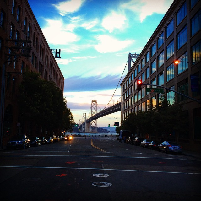 SF you're still so stunning! Thanks for the amazing views! #SF #sunset #downtown #soma #baybridge