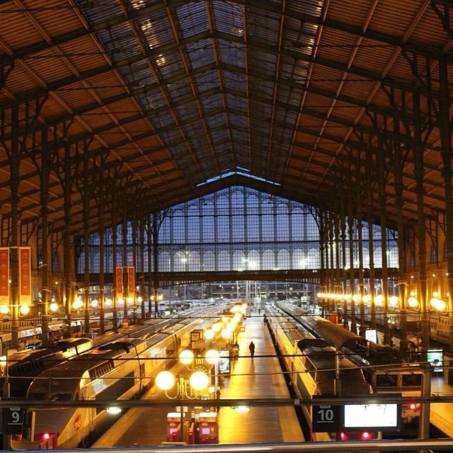 En route to #London - the Gare du Nord in #Paris.