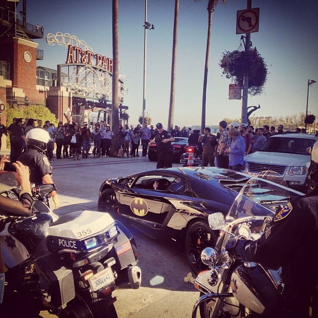 Went to see #SFBatKid during lunch at AT&T Park - lil homie riding around in style! Truly warms your heart! SF you've done a great job!