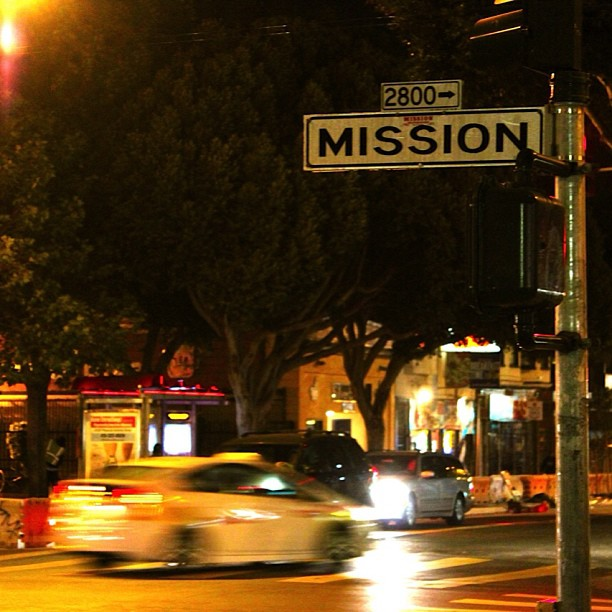 While out shooting in the mission! #themish #nofilter #sf #nightshots #caliisthemission