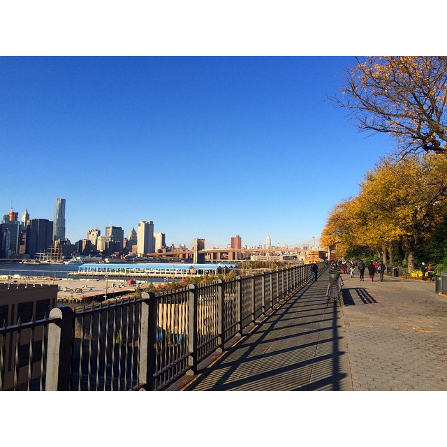 Beautiful fall day in Brooklyn! #thebaytobk #fall #brooklynbridge