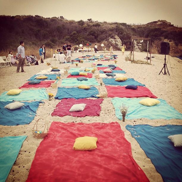 Beach wedding in Carmel - so beautiful - sure do love weddings 👫 #amazing #carmelbythesea