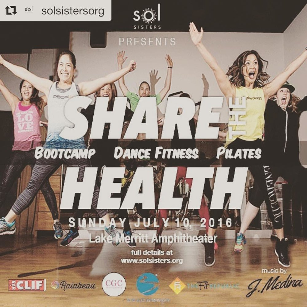 To all my lady friends in the Bay Area I'm going to spinning at Lake Merritt to support an amazing organization @solsistersorg - this is a great opportunity to support the organization and focus on your health! Check out @solsistersorg for more details and a coupon code! ・・・ #ShareTheHealthFest #solsisters #bayarea #oakland #lakemerritt #nonprofit #giveback