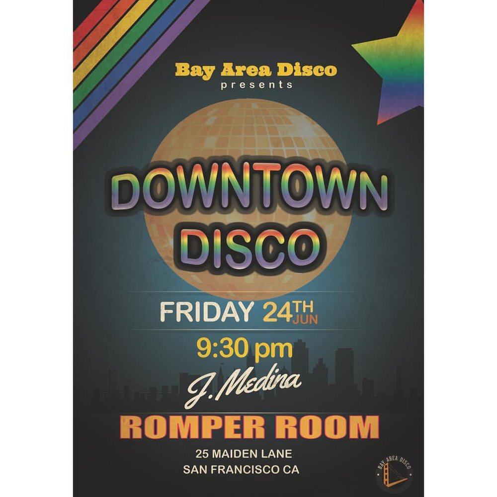 We're back at Romper Room and are kicking off Pride Weekend in SF this Friday, June 24th. ….. #downtowndisco #disco #soul #funk #nudisco #discohouse #sfnightlife #sf #bayarea #oakland #prideweekend #pride #downtownsf #prideparade (at Romper Room)