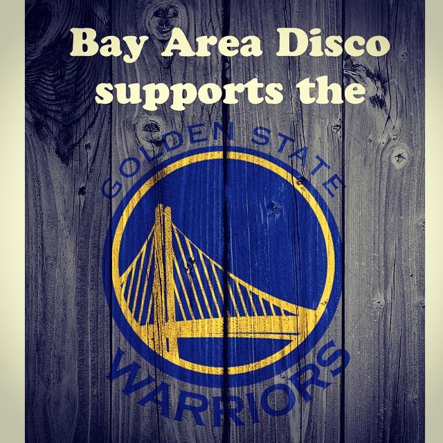 @bayareadisco supports the @warriors - who's ready for tomorrow night! #thecity #warriors #nba #finals #MVP #bayarea #SF #oakland