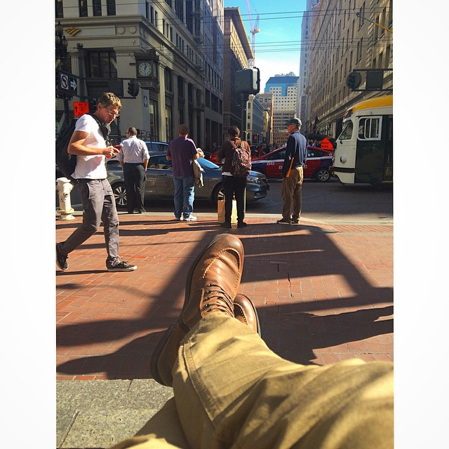 Lunchtime chillin' - it's great to be back in Cali, relaxin' #downtown #sf 😎