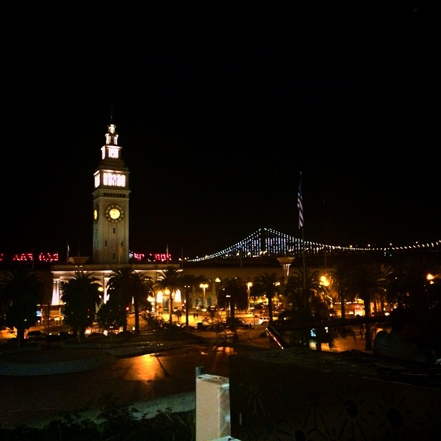 Happy Hour extended……ever tell y'all about the Bay….let me begin. #bayarea #SF #baybridge #allofthelights #ferrybuilding