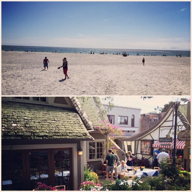 Can I just retire here? Love coming out to Carmel. #beachday