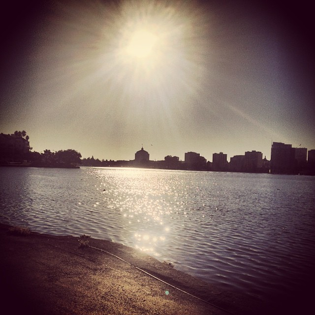 Sunset in Lake Merritt - Oakland! #sunset #thebay #cali