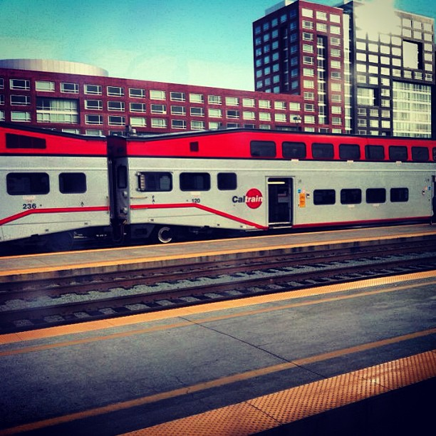 About to jump on this real quick to chill with my San Jose crew brb….#AL #bayarea #caltrain