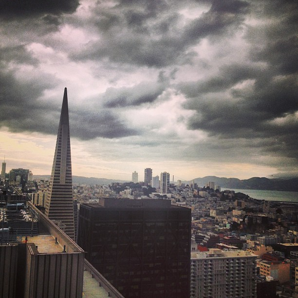 My Cinco De May working from the office! #SF #clouds #overcast