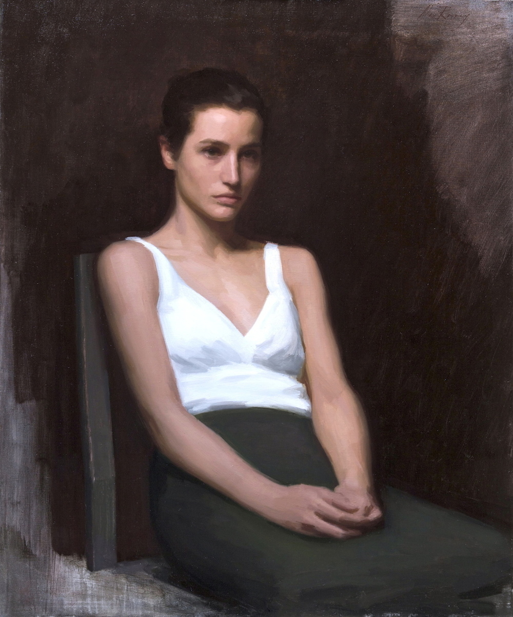 Elisa Lasowski , 2012 oil on canvas 100 x 75 cm