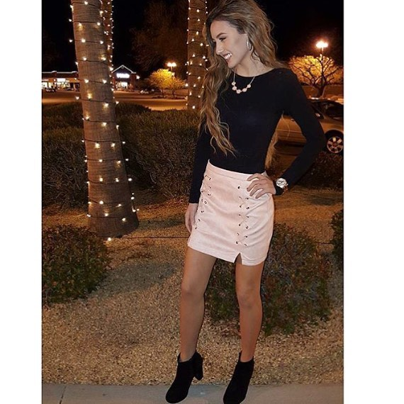 @zarate_11 is such a babe in our skirt! Remember everything is still 50% OFF!! #pickettpretty