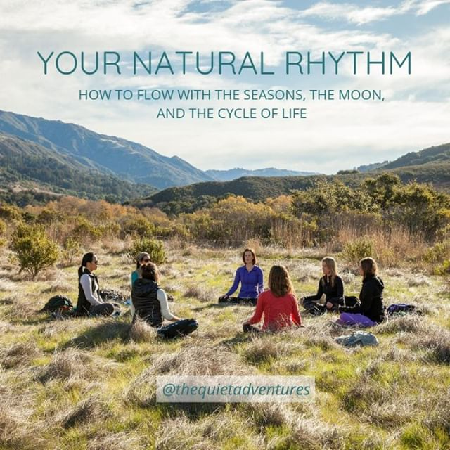 I know many of you want to live in tune with nature, and I'm SO excited to share my friend Megan's beautiful guidebook designed to help you follow your natural rhythm. If you want to connect more deeply with nature, please check out Your Natural Rhythm: How to Flow with the Seasons, the Moon, and the Cycle of Life https://www.thequietadventures.com/signatureopt *  You can also find out more about the amazing seasonal backpacking retreats she leads for women @thequietadventures . . . . #naturalrhythm #insyncwithnature #nature #naturelove #outdoors #explorer #amongthewild #adventureinspired #keepitwild #findyourselfoutside #seasonalliving #Moon #naturalflow #cycleoflife  #wildernessretreats #meditationretreats #retreatyourself  #spiritualretreats #natureretreats #wildernessretreats #wildernessheals #deepconnection #wildernessheals #natureheals #loveyourself #divinefeminine #motherearth