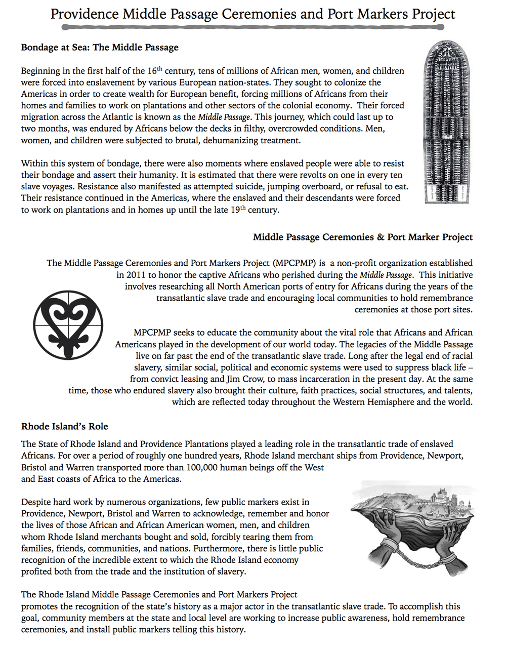 resources rhode island middle passage ceremonies and port informational brochure from the providence community discussion 27