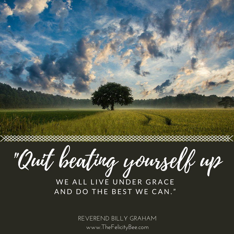 Guilt. Condemnation. Shame. STOP! Stop beating yourself up. We are under God's grace. We are forgiven. Live Strong knowing that you are under His wings of mercy and just do the best you can.