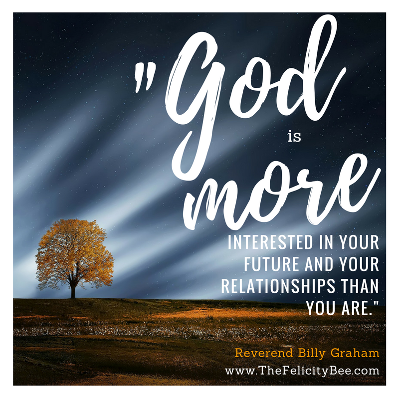 """Do you think that God is far off? Do you think that He doesn't care? We seem to think that God doesn't see or care about what we are going through. """"He has bigger things to worry about."""" Take a minute and think about that situation/relationship/storm that weighs heavy on your mind - the one that you can't stop thinking about - the one that keeps you up late at night . . . God cares about it more than you do and He is ever interceding before the Father on your behalf. . . about the very thing that you can't stop thinking about. Let it go and give it to God. (Hebrews 7:25)"""