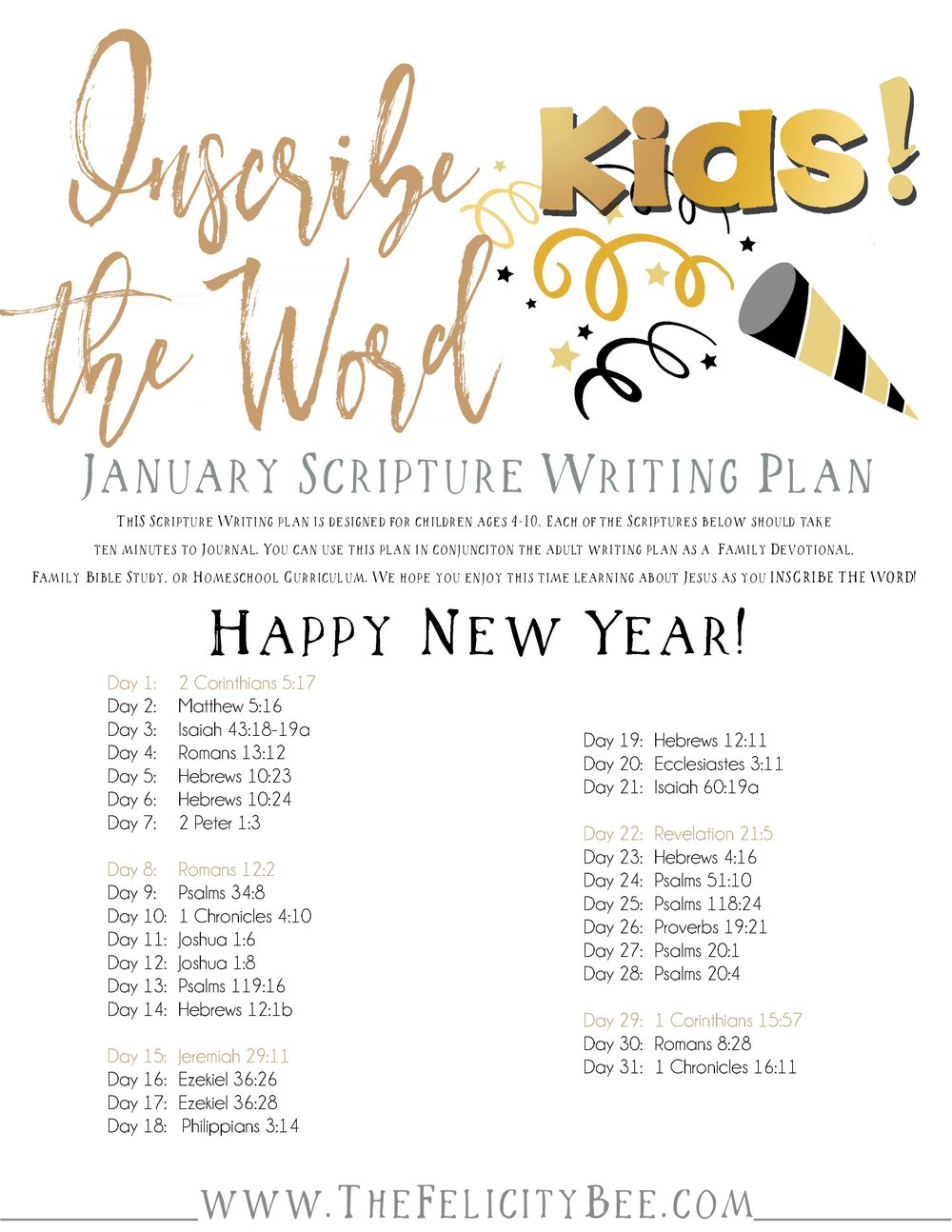 To Download your January KIDS plan,  CLICK HERE.