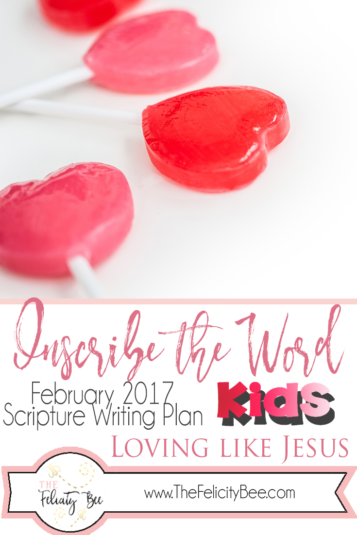 February Scripture Writing for Kids