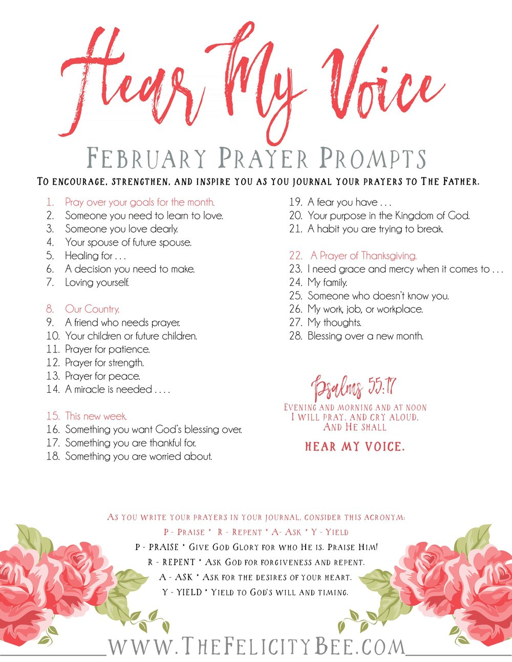 To Download your February Prayer Prompts, CLICK HERE.