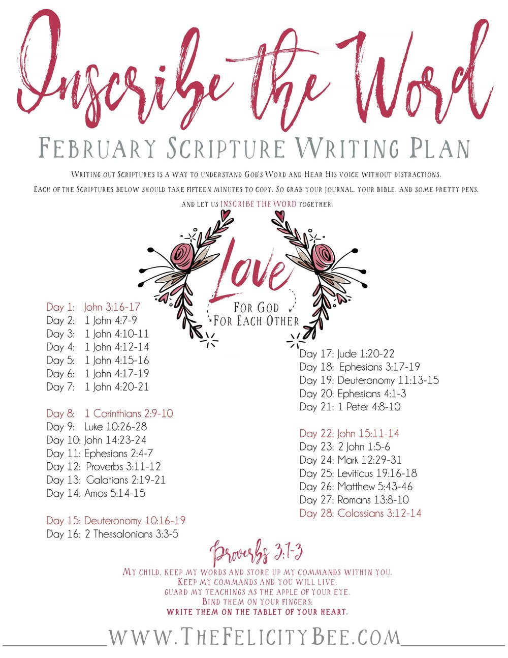To download your February Scripture Writing Plan,  CLICK HERE.