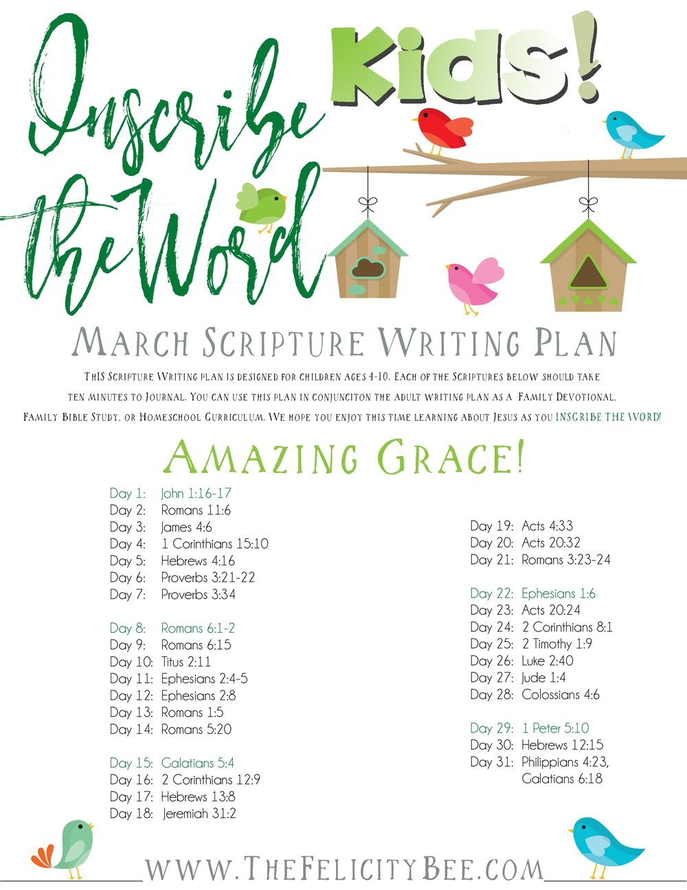 To download your Scripture Writing Plan, CLICK HERE.