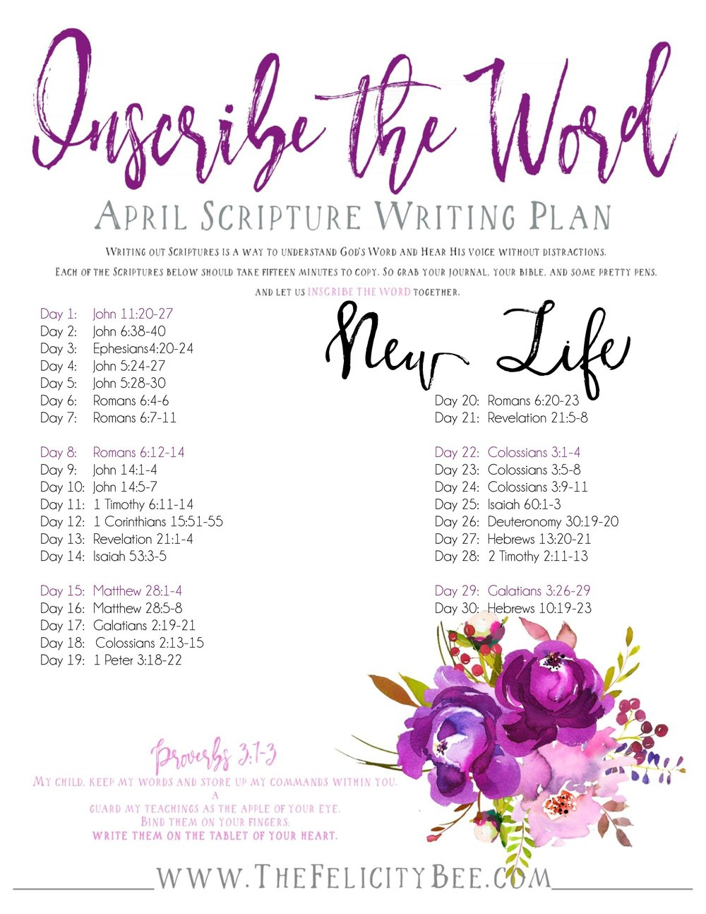 To Download your Inscribe the Word April Plan,  CLICK HERE.