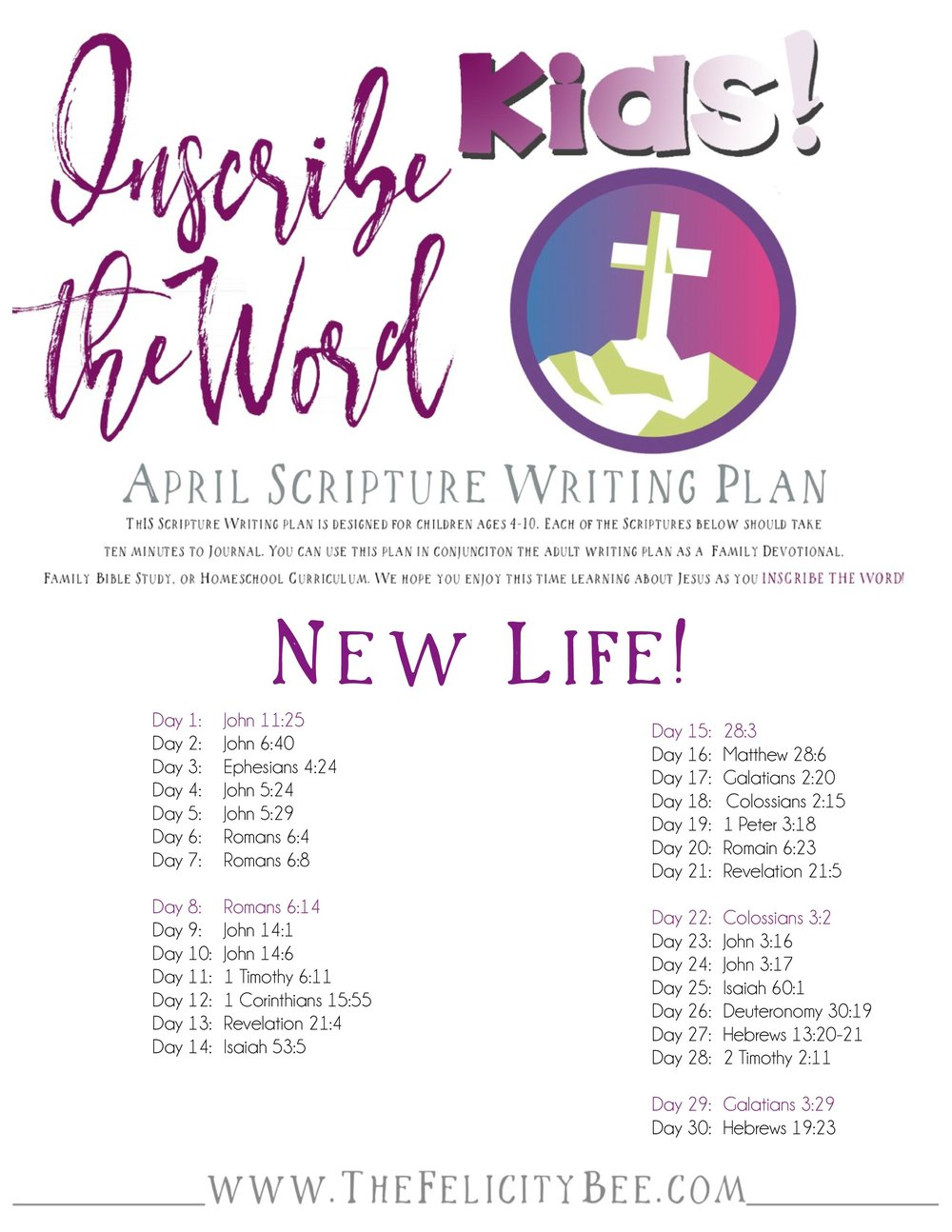 To download your KIDS Inscribe the Word Plan, CLICK HERE.