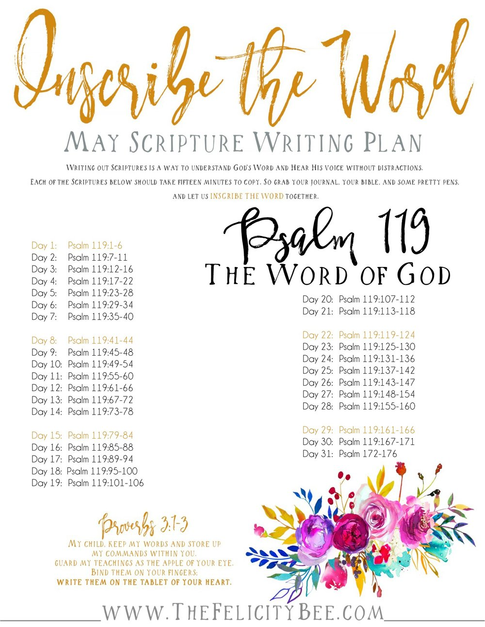 To Download your May 2017 Inscribe the Word plan,  CLICK HERE .