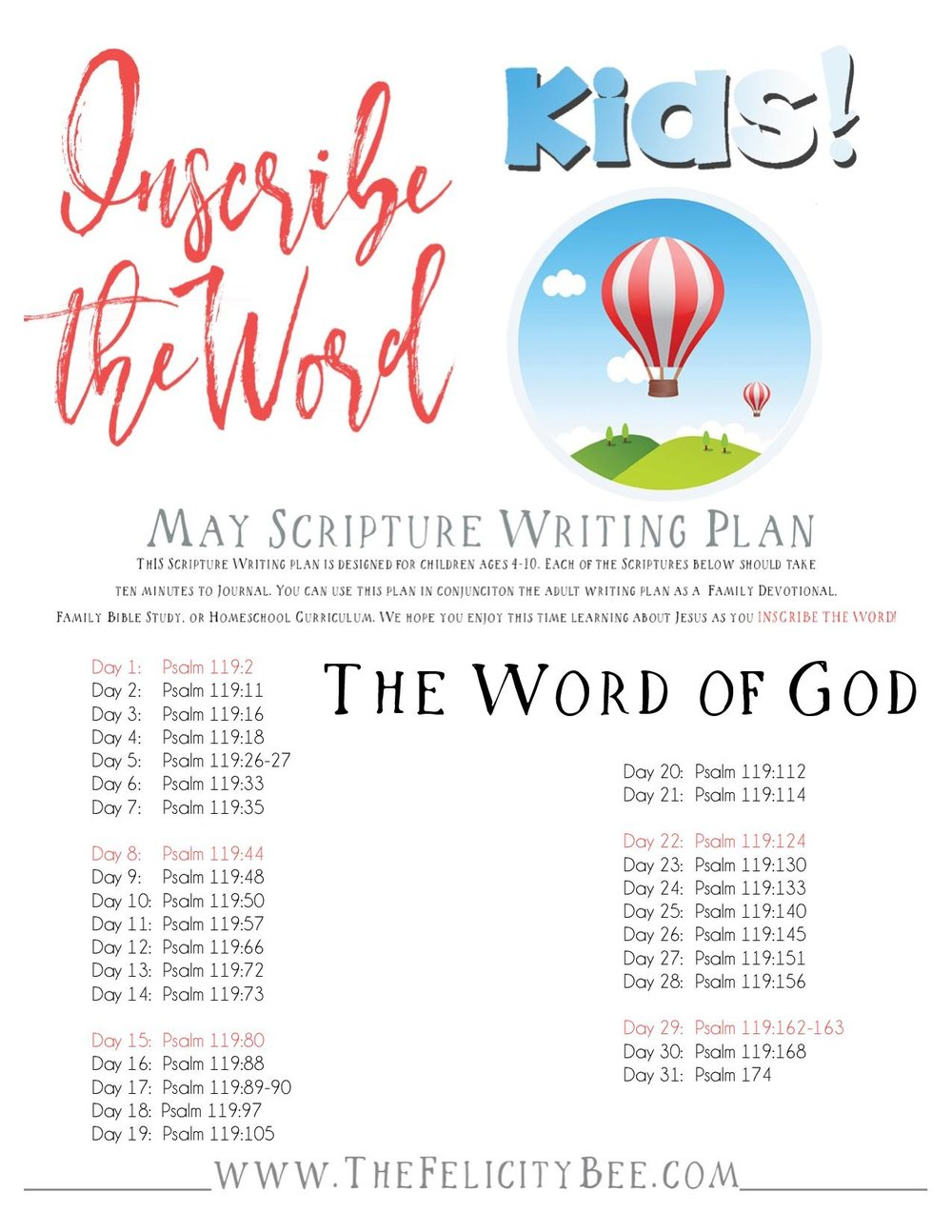 To download your INSCRIBE THE WORD for KIDS, CLICK HERE.