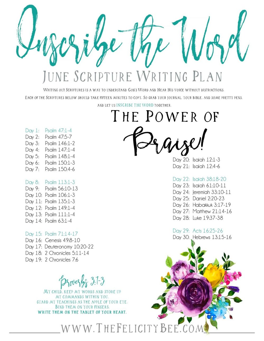 Click HERE  to download your Inscribe the Word plan.
