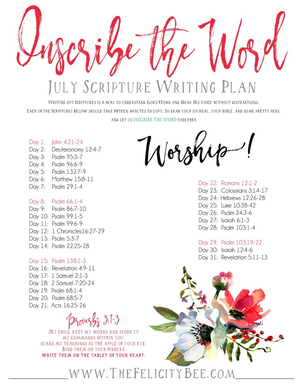 Scripture Writing Plan Inscribe the Word