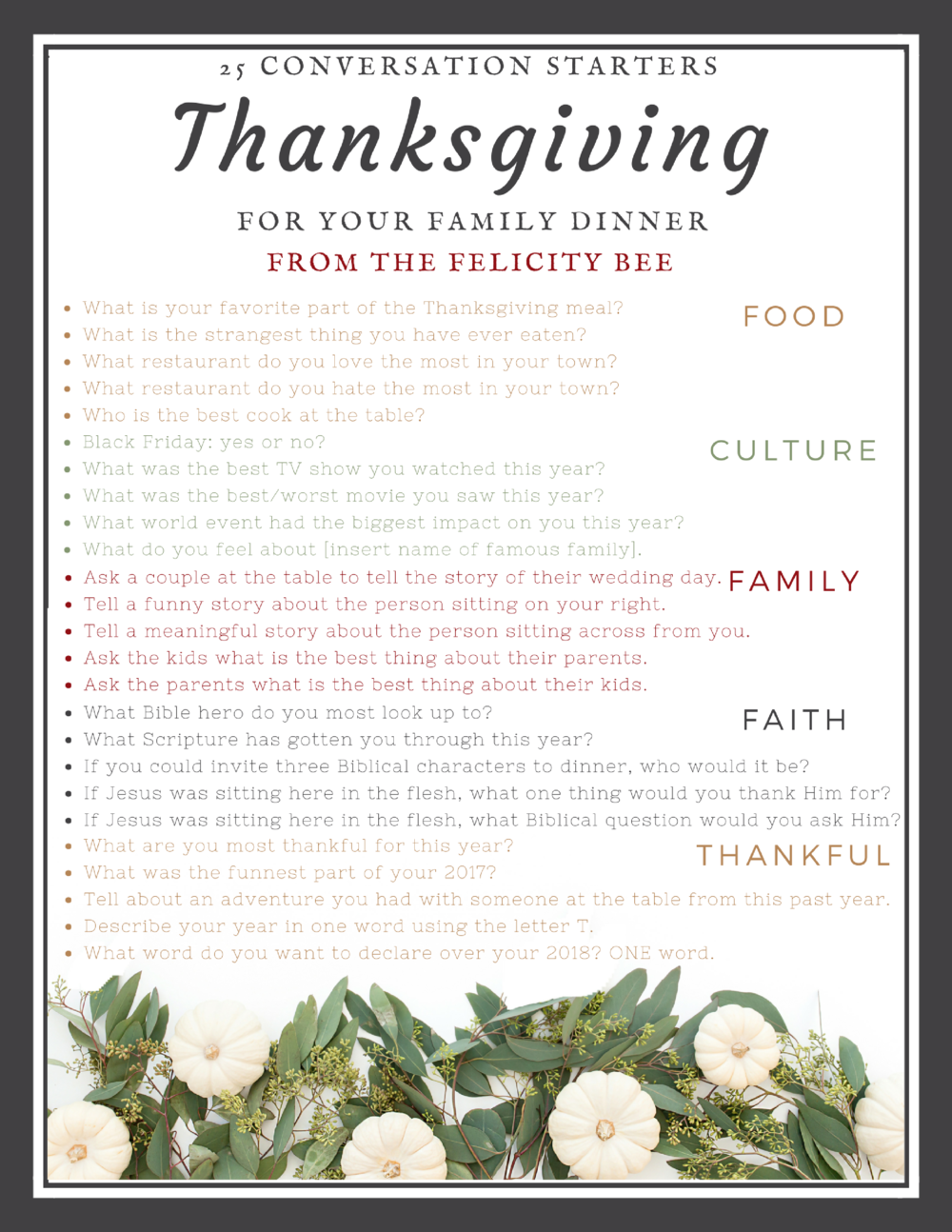 CLICK HERE  to download a printable version for everyone at your table.