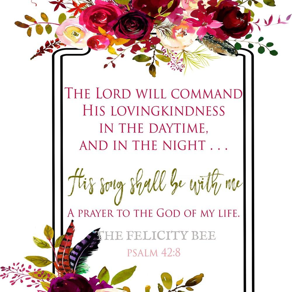 Psalm 42:8 Printable