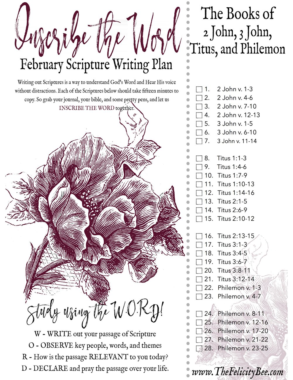 CLICK HERE  to download Your February Scripture Writing Plan!