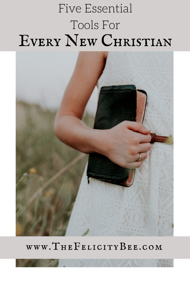 As a new Christian we all need tools to grow. Today, I am sharing FIVE ESSENTIAL TOOLS for Every New Christian. If you've known Jesus forever, this list will also bless you!