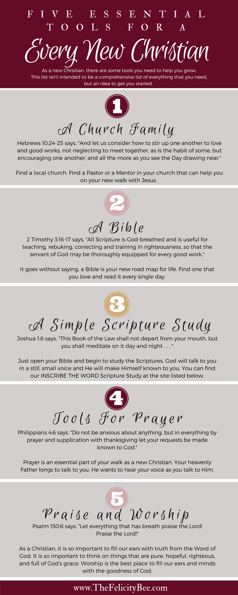 Five Essential Tools for Every New Christians