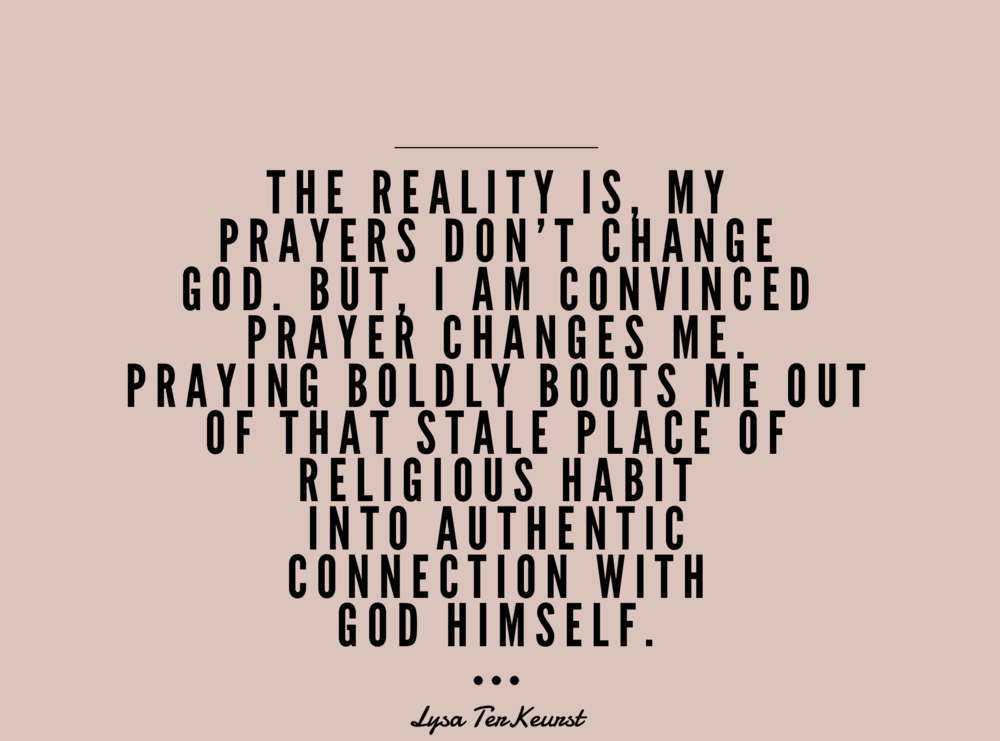 Prayer - lysa- terKeurst