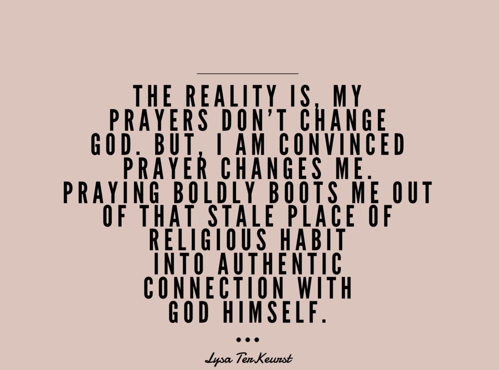 Prayer - lysa- terKeurst