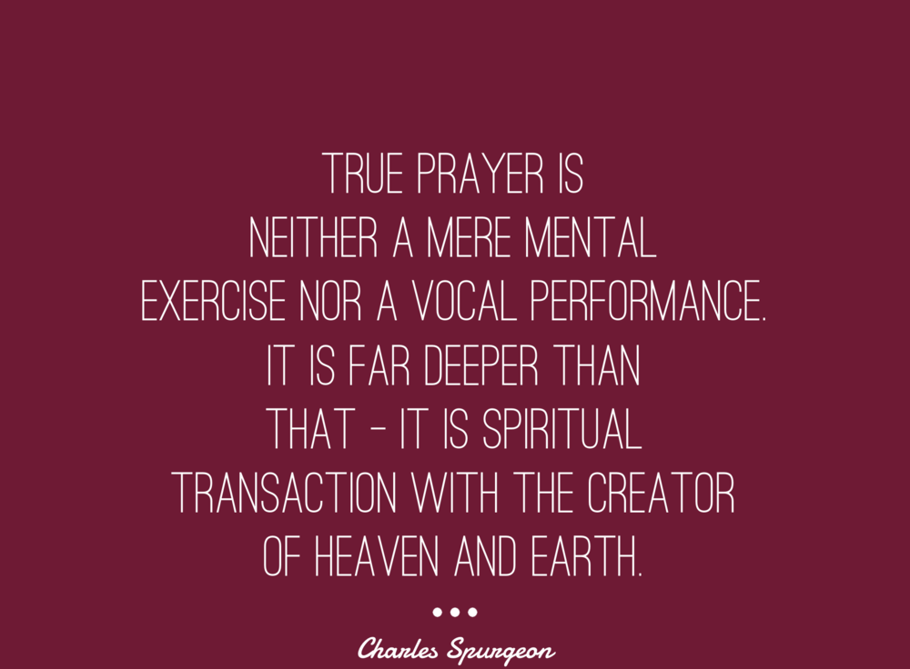 Prayer-Charles-Spurgeon