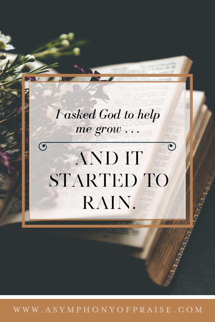 I asked God to grow . . . and it started to rain. What growth in Christ looks like and how to embrace the rain.