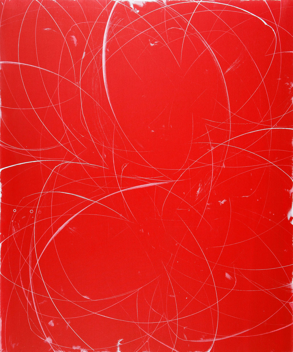 "slingshot    60""X50  ""    ACRYLIC on canvas    2008"