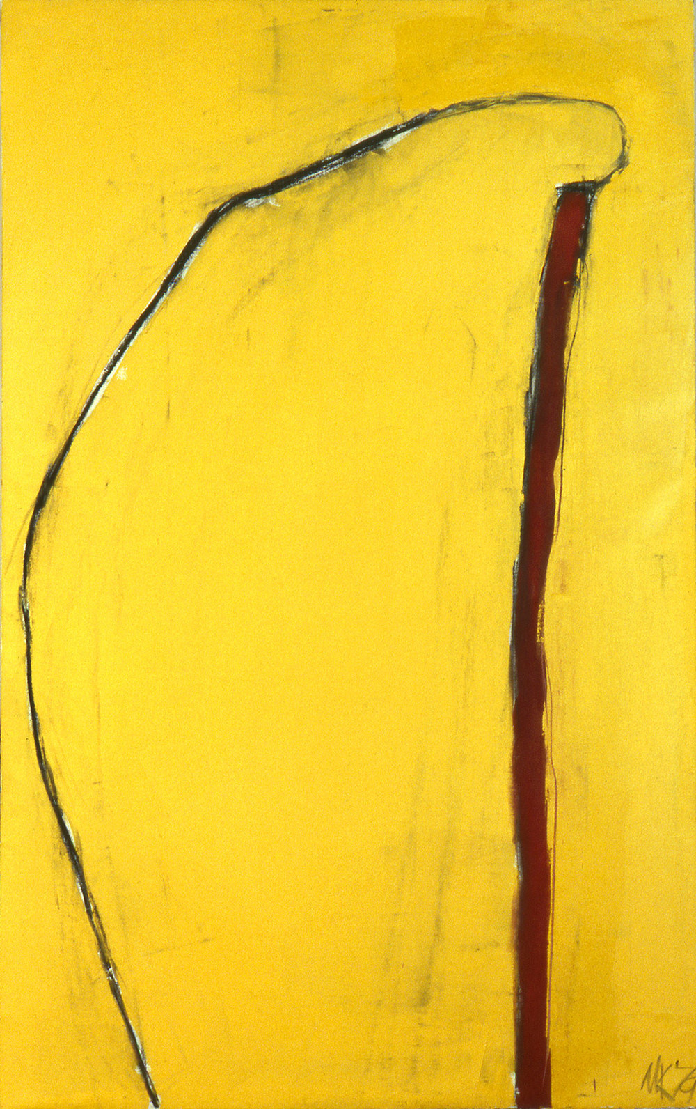 "untitled   77""x48""  oil on canvas 1979"