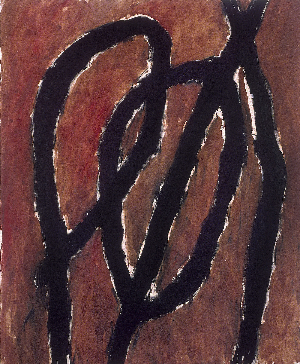 "red letter    81""X67""    oil ON CANVAS  1982"