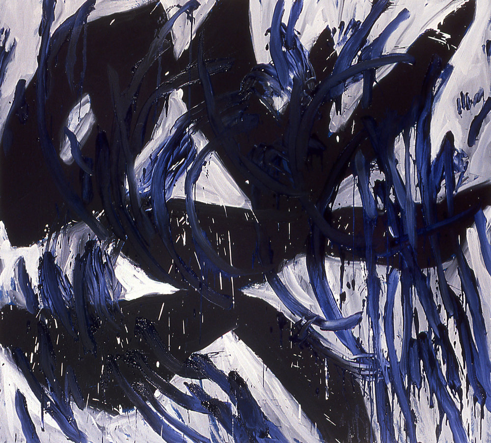"untitled   69""x77""   oil ON CANVAS    1985"
