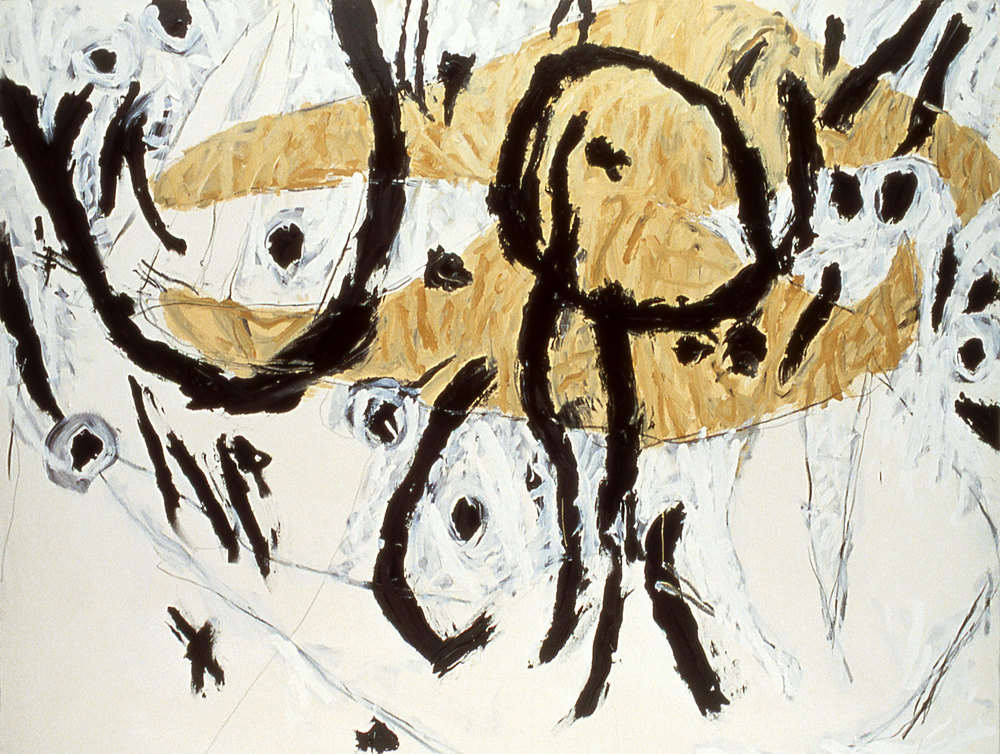 "untitled    60""X78""    ACRYLIC on canvas    1987"