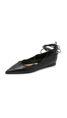 aquazurra lace up flats