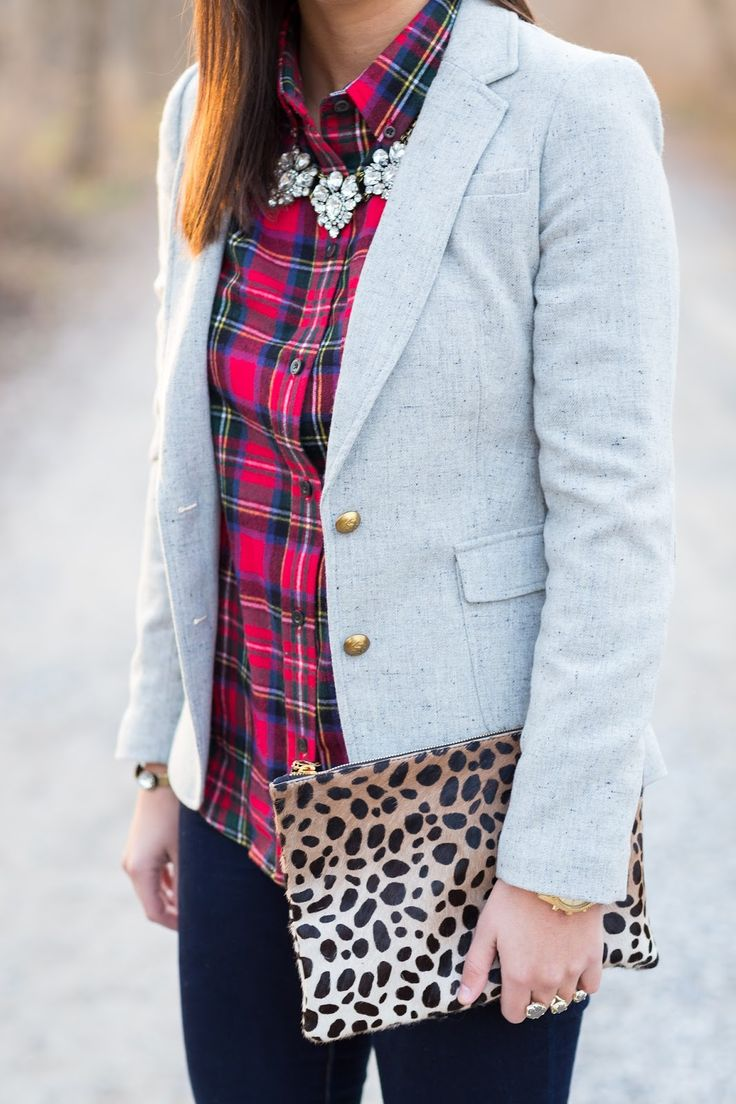 plaid blazer and sparkle