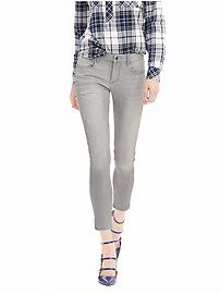 Distressed Gray Skinny Ankle Jean - Gray