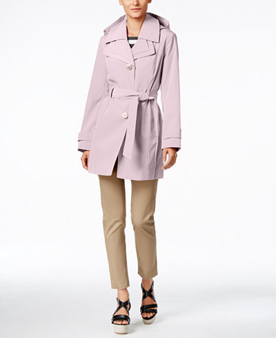 pink macys trench